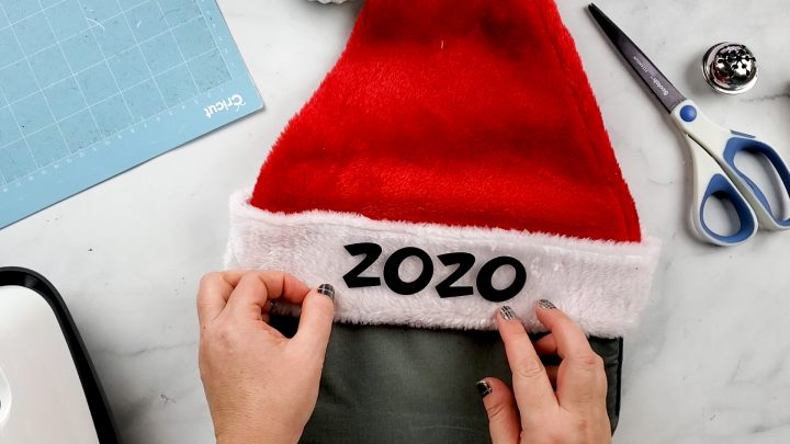 on santa hat