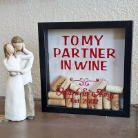 wine cork shadow box personalized