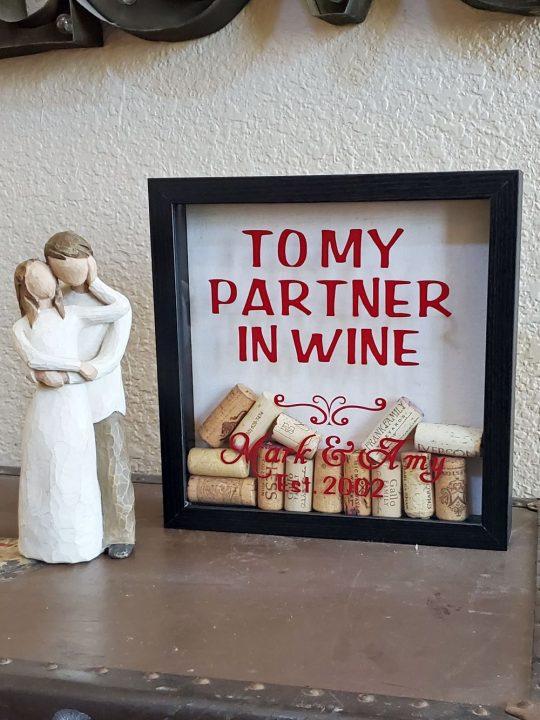wine cork shadow box personalized