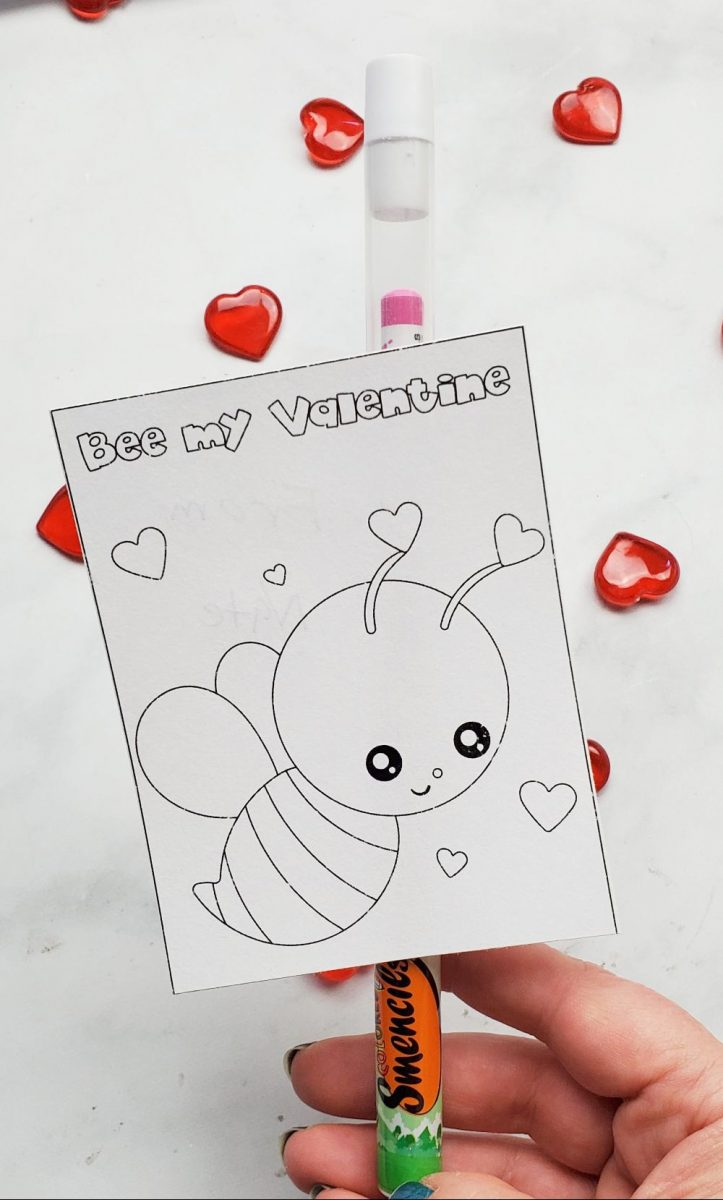 bee my valentine free card