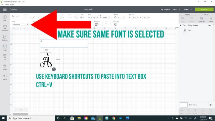 how to add accents glyphs in cricut design space
