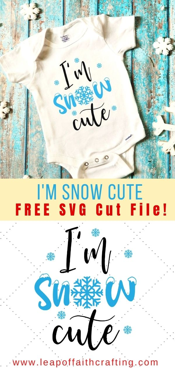 im snow cute svg file pinterest