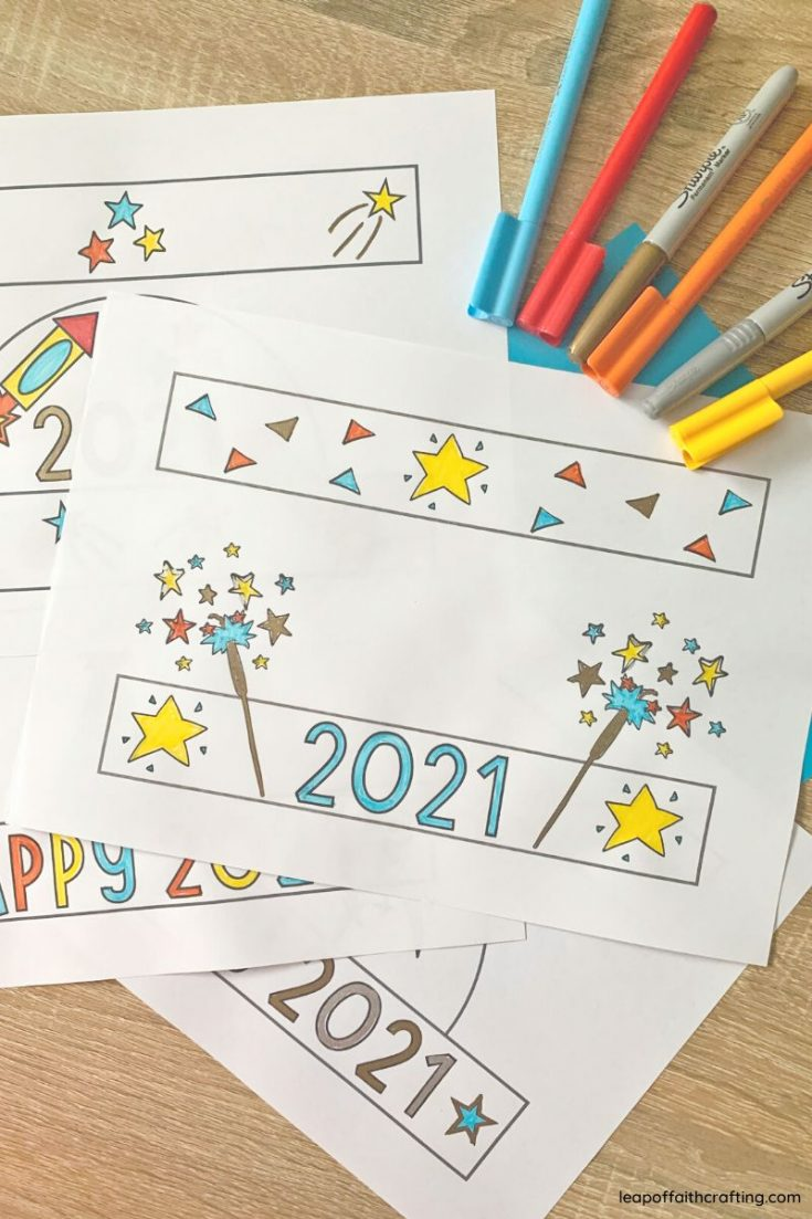 nye party hats printable