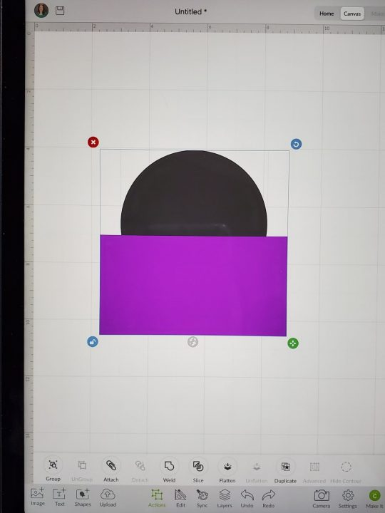 selecting images on design space ipad