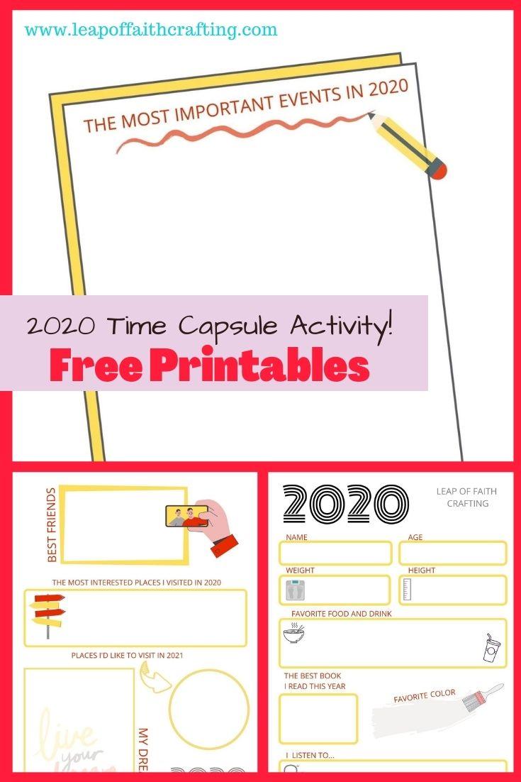 time capsule printables free