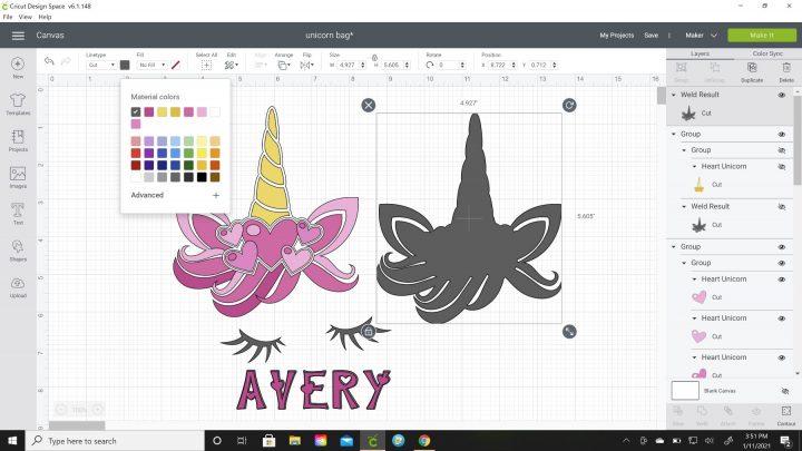 change color cricut design space