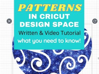cricut pattern how to