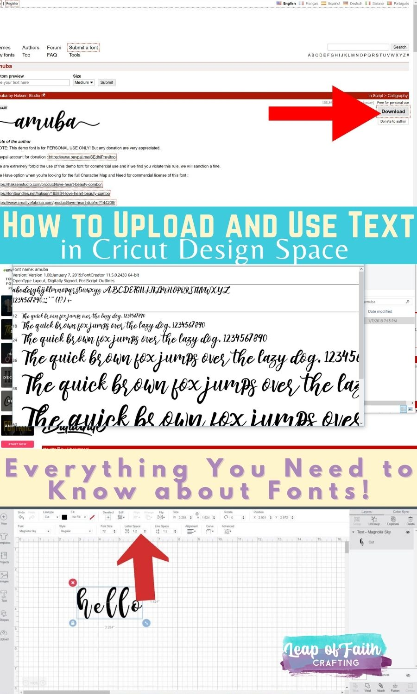 cricut text tutorial