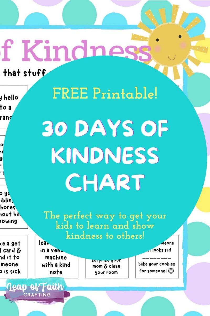 days of kindess printable