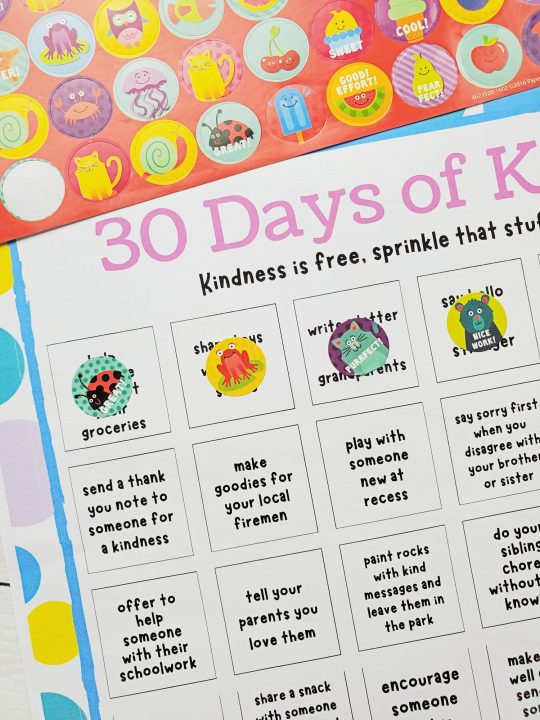 days of kindness calendar