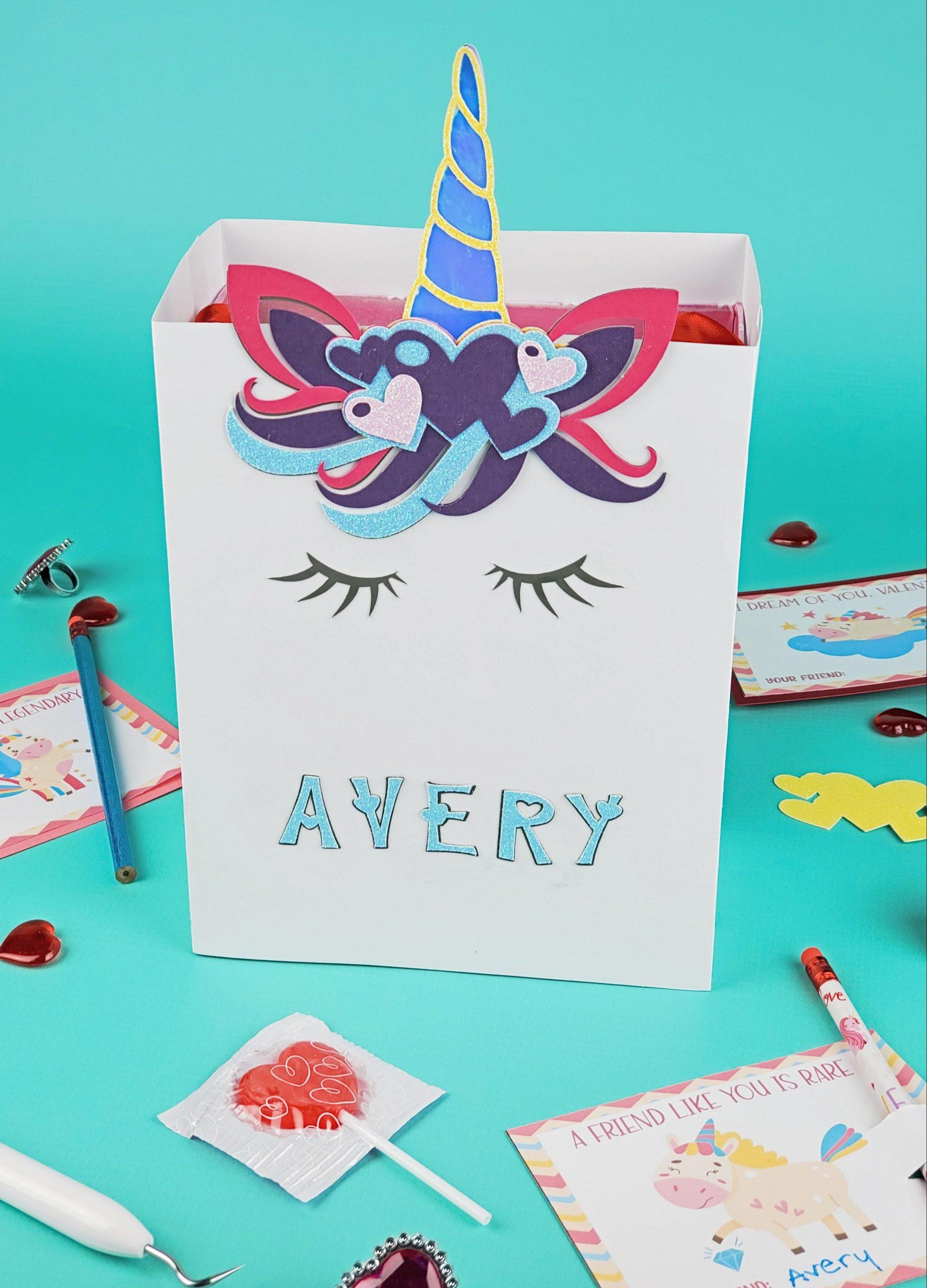 diy unicorn valentine box