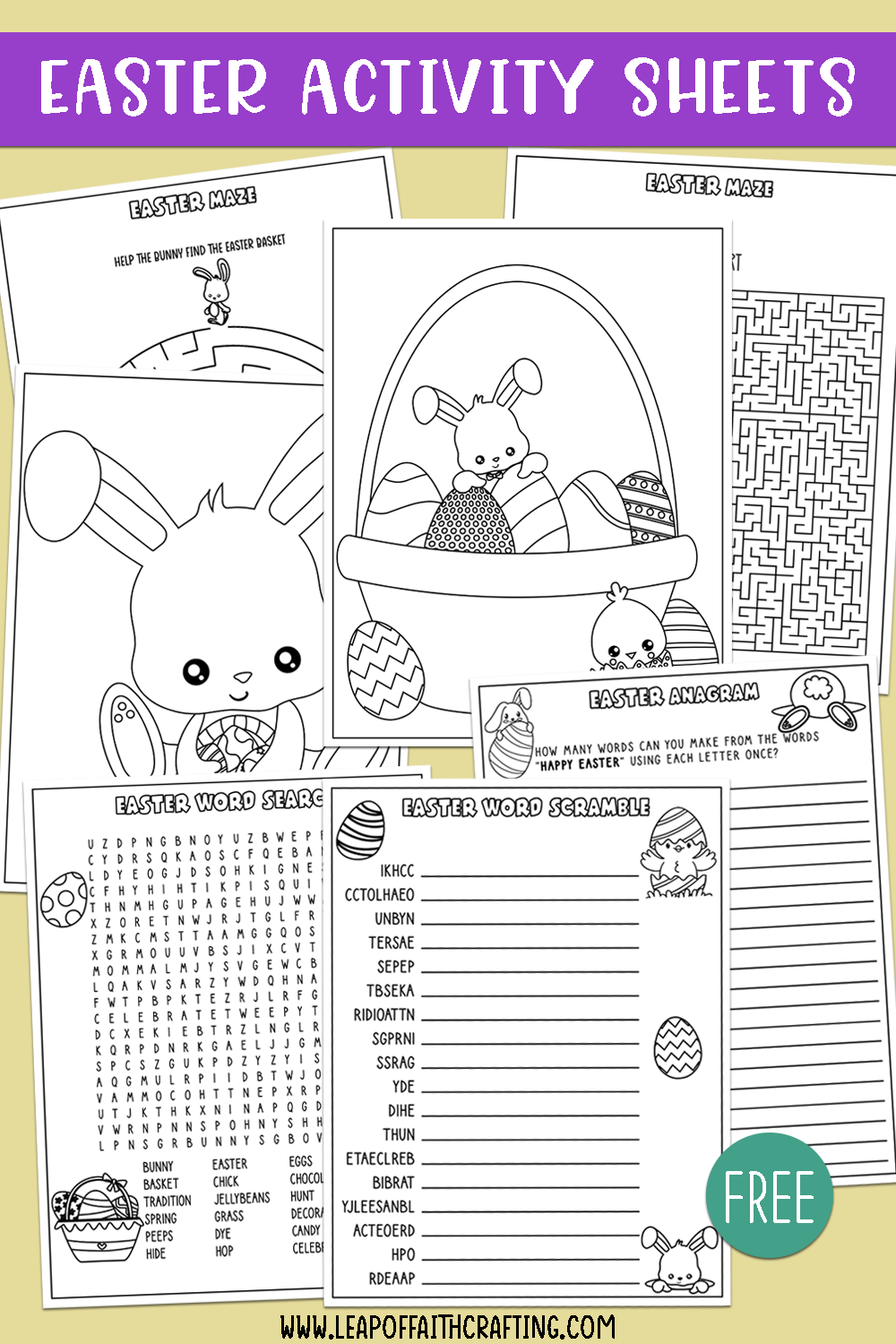 easter activity pages