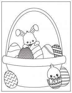 free easter egg coloring sheet