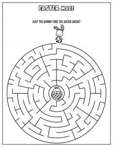 easter maze printable