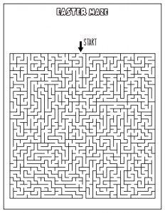 free easter maze printable