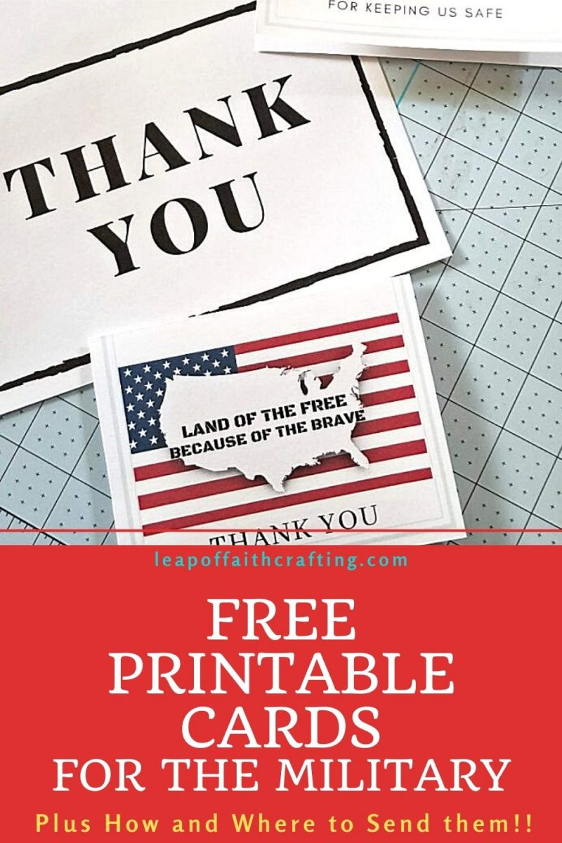 free thank you cards for military