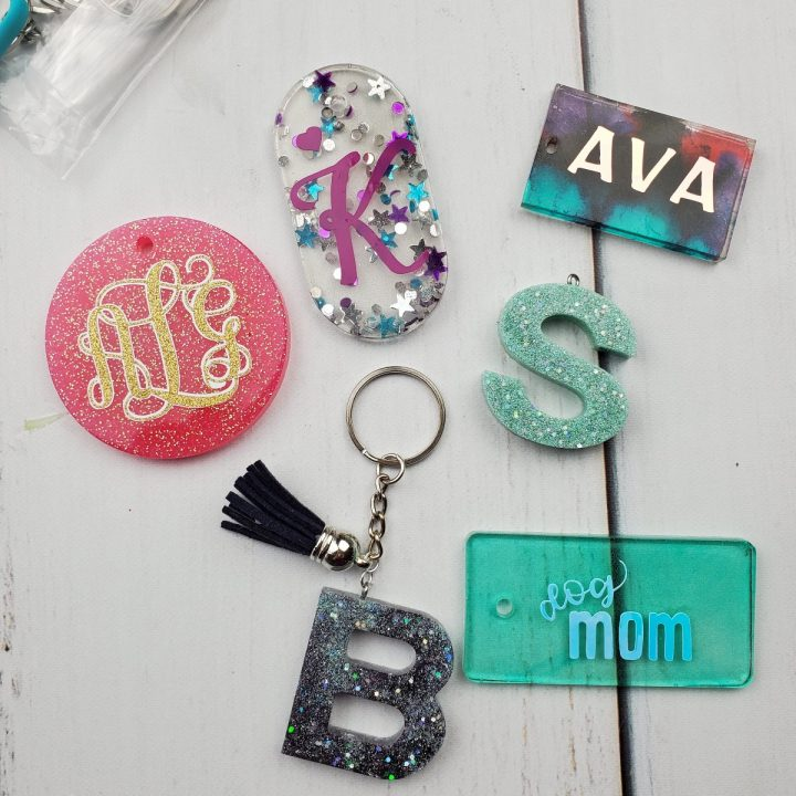 how to make resin keychains
