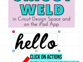 how to weld letters on cricut app ipad