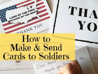 making cards for soldiers how
