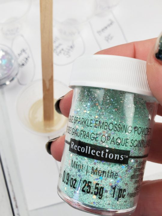 sparkle embossing powder in resin