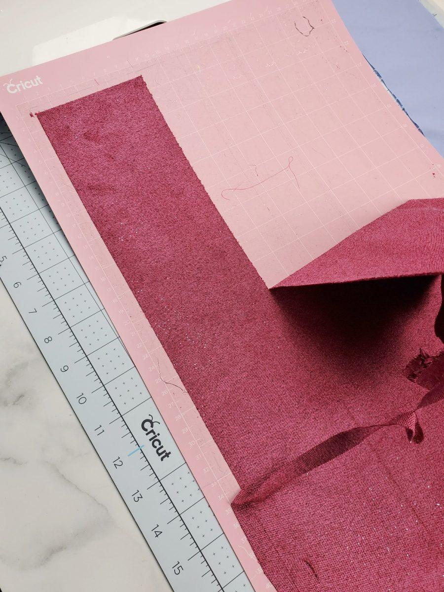 cutting scrunchie on cricut maker