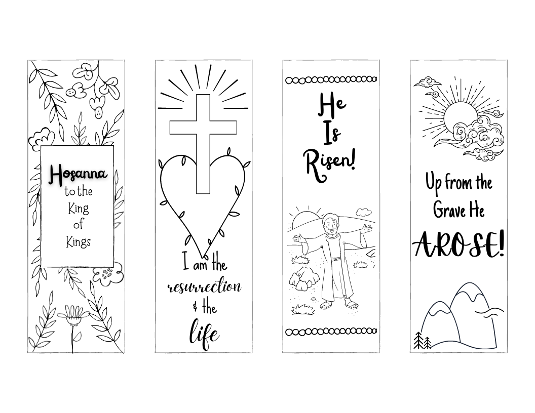 easter bookmarks png