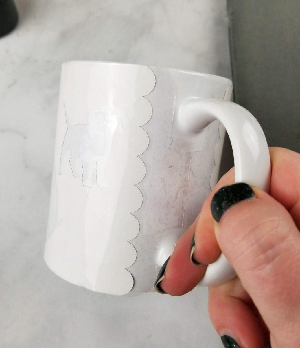 infusible ink sheet on mug