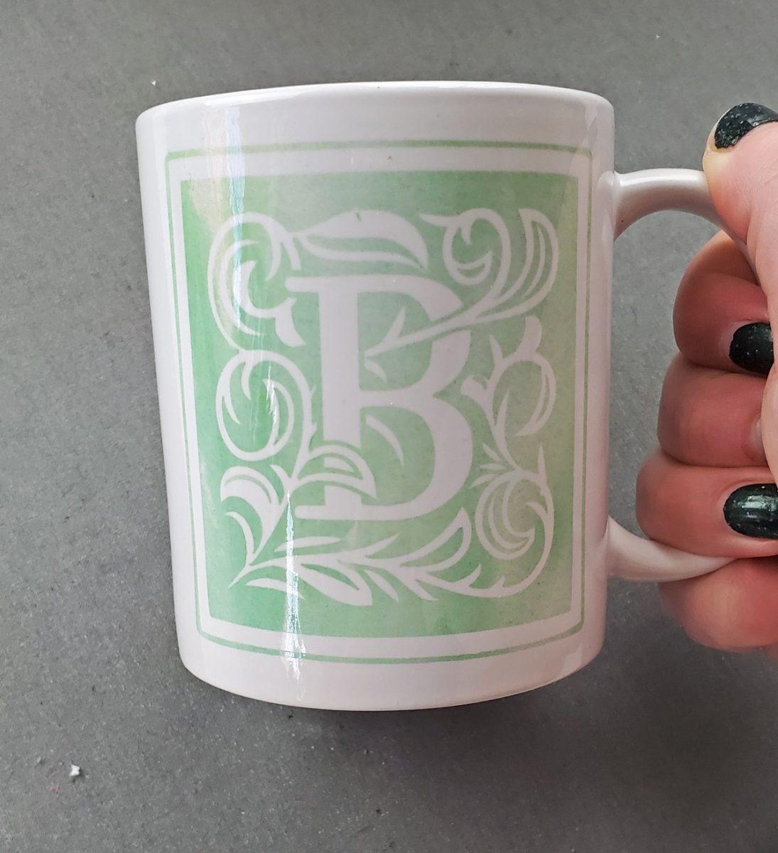 monogram cricut mug