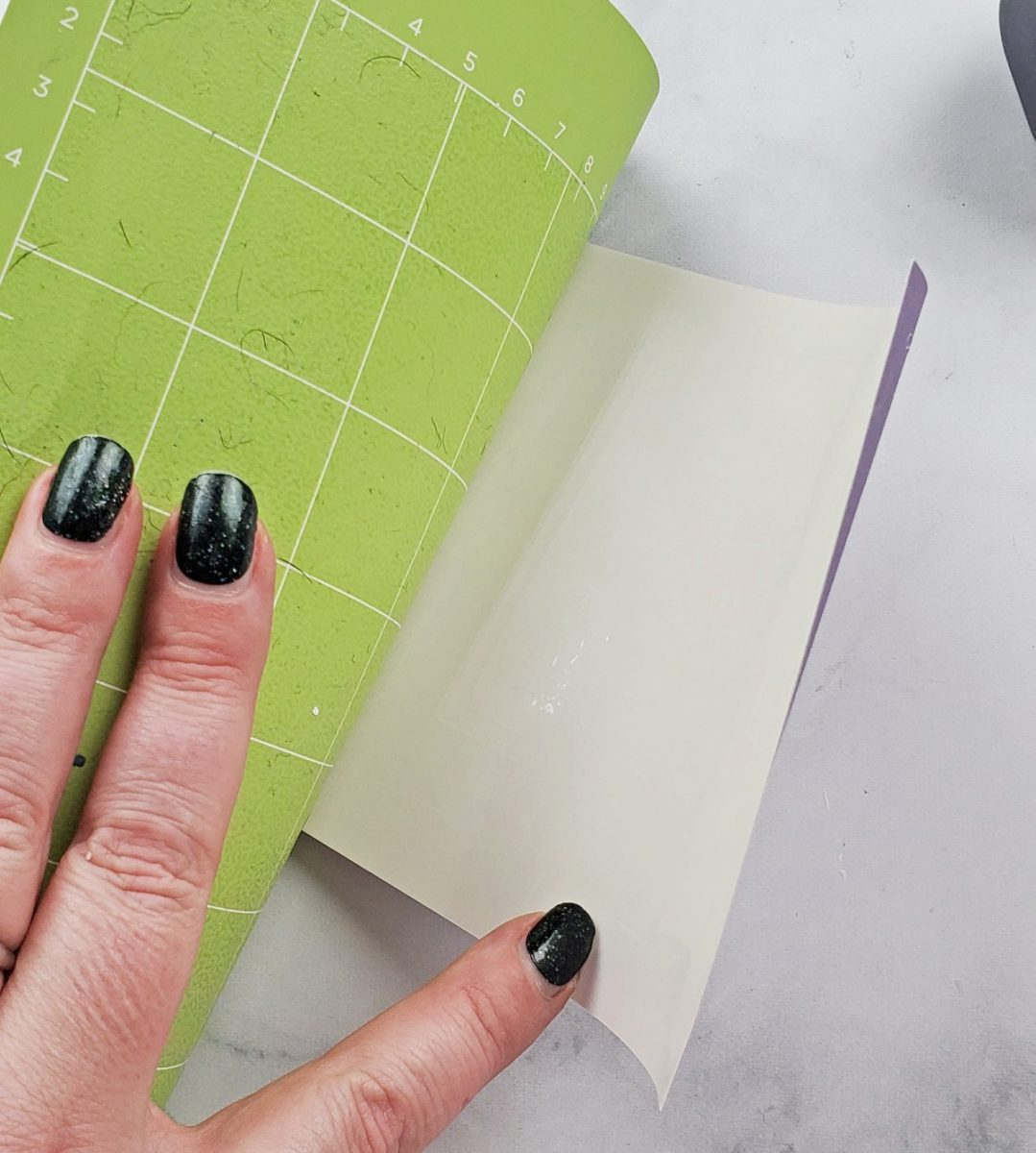 peeling ciruct mat from infusible ink