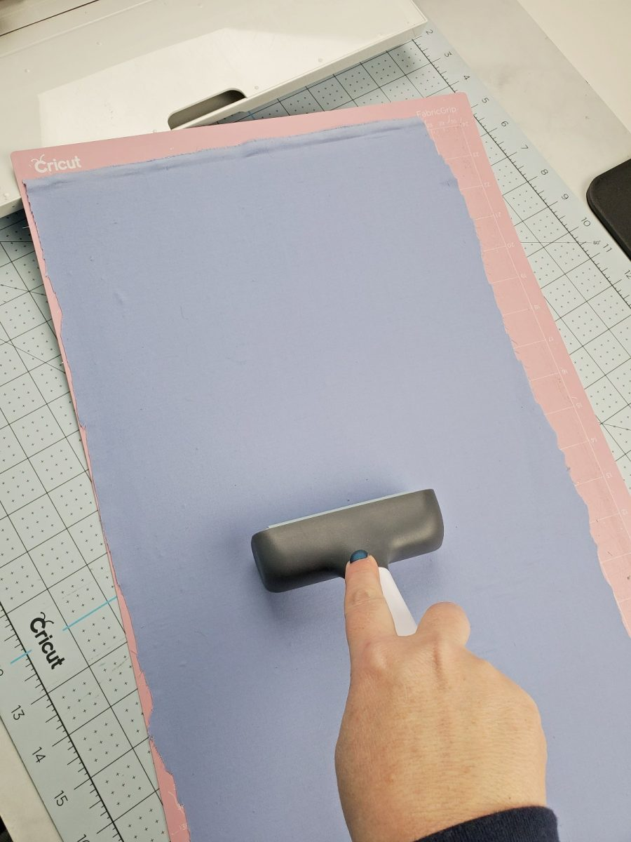 using brayer on fabric cricut