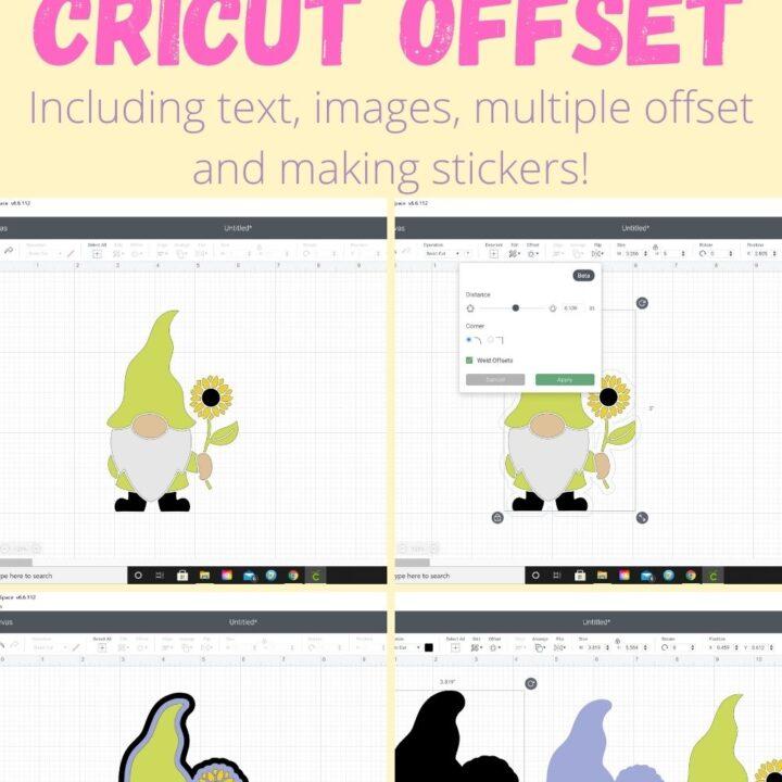 cricut offset how to pin