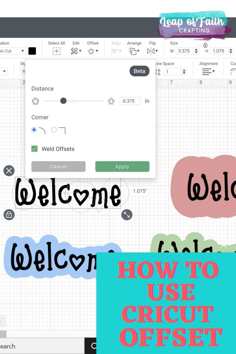 cricut offset tutorial