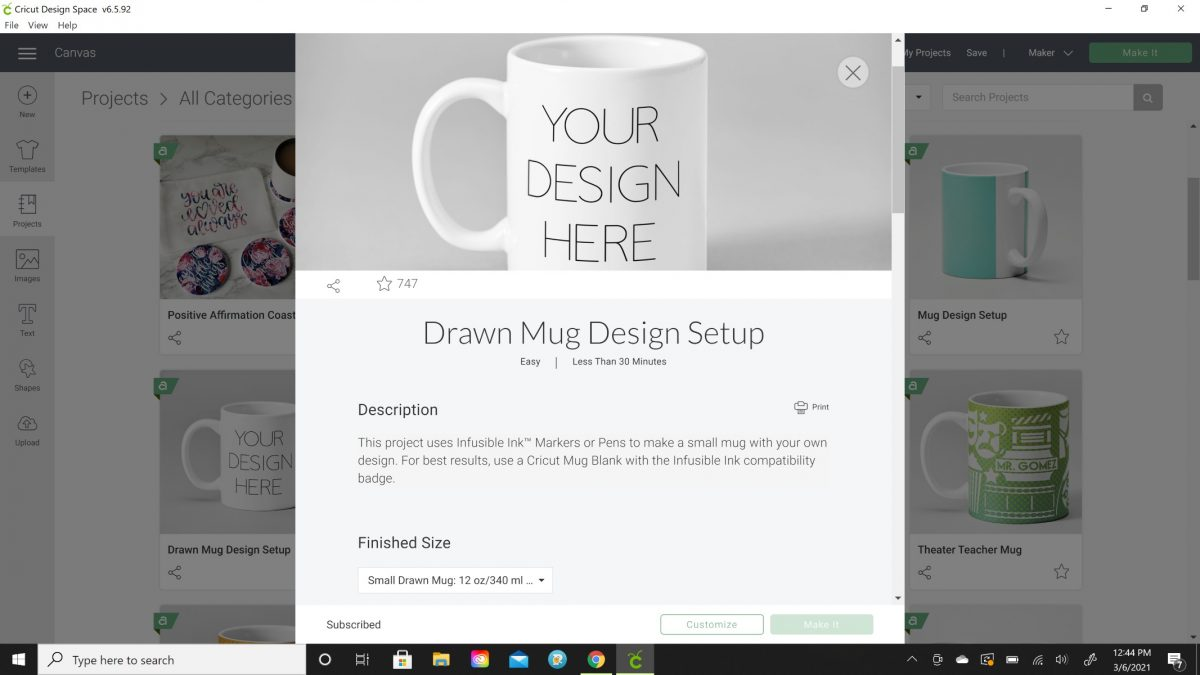drawn mug design cricut
