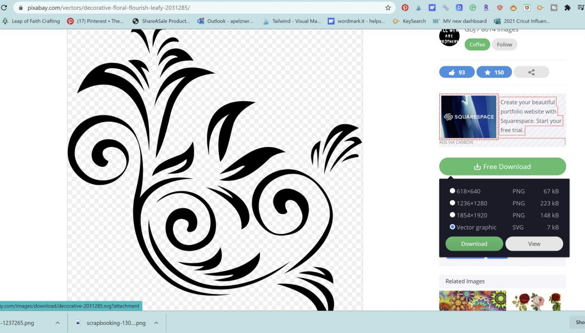 flourish for split monogram