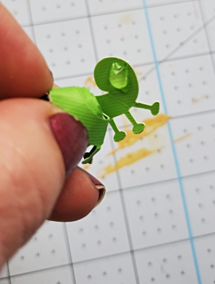 hot glue on cardstock flower