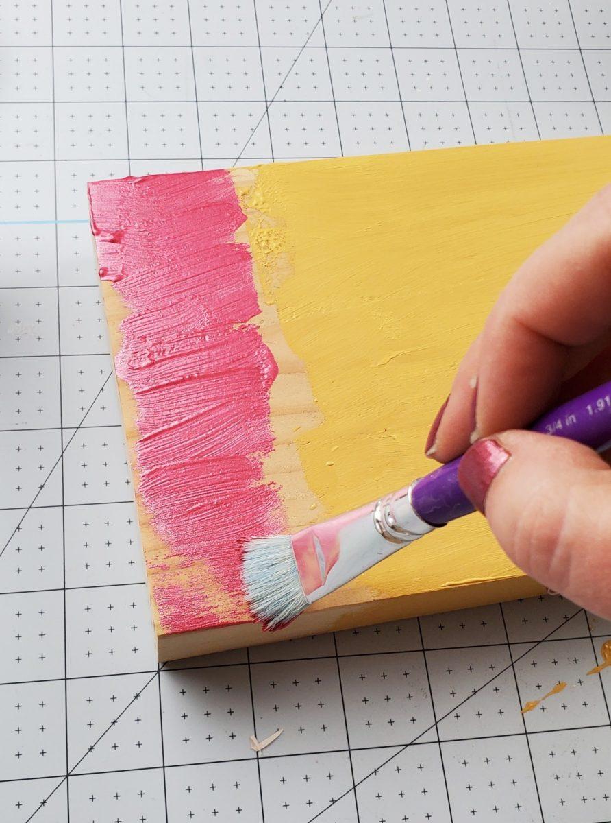painting teacher pencil sign