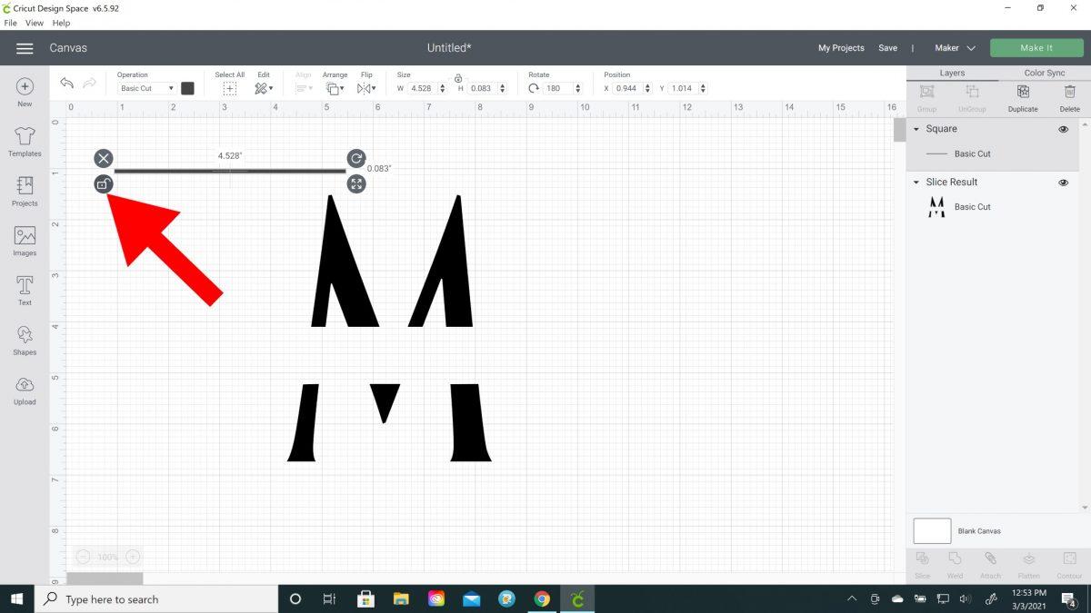 split monogram cricut