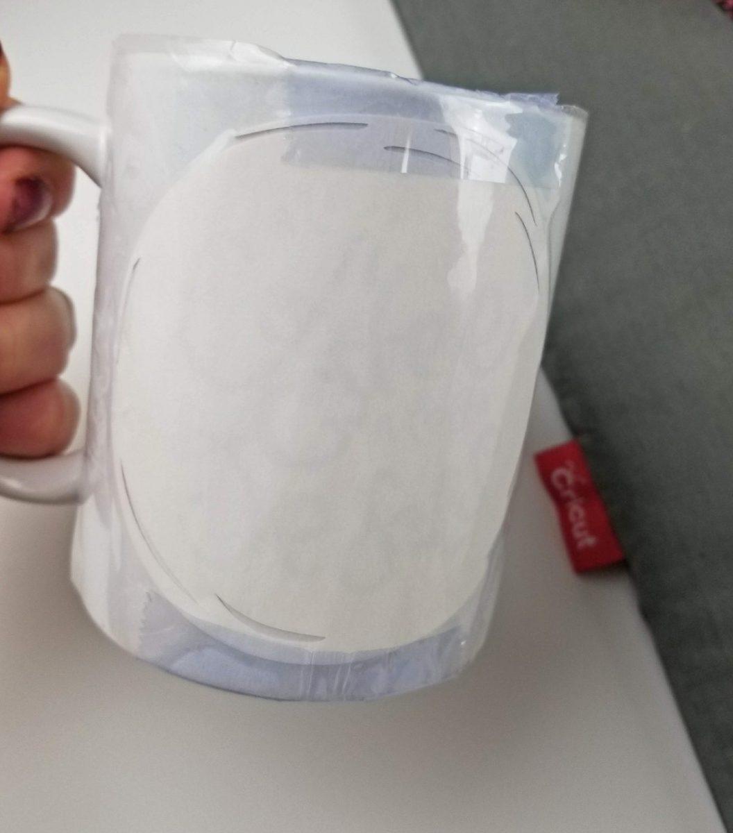 taped infusible ink mug