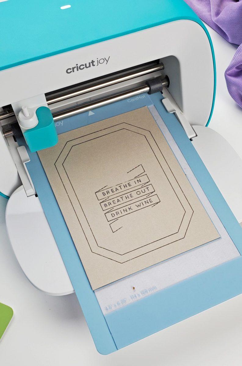 cricut joy insert card cutting