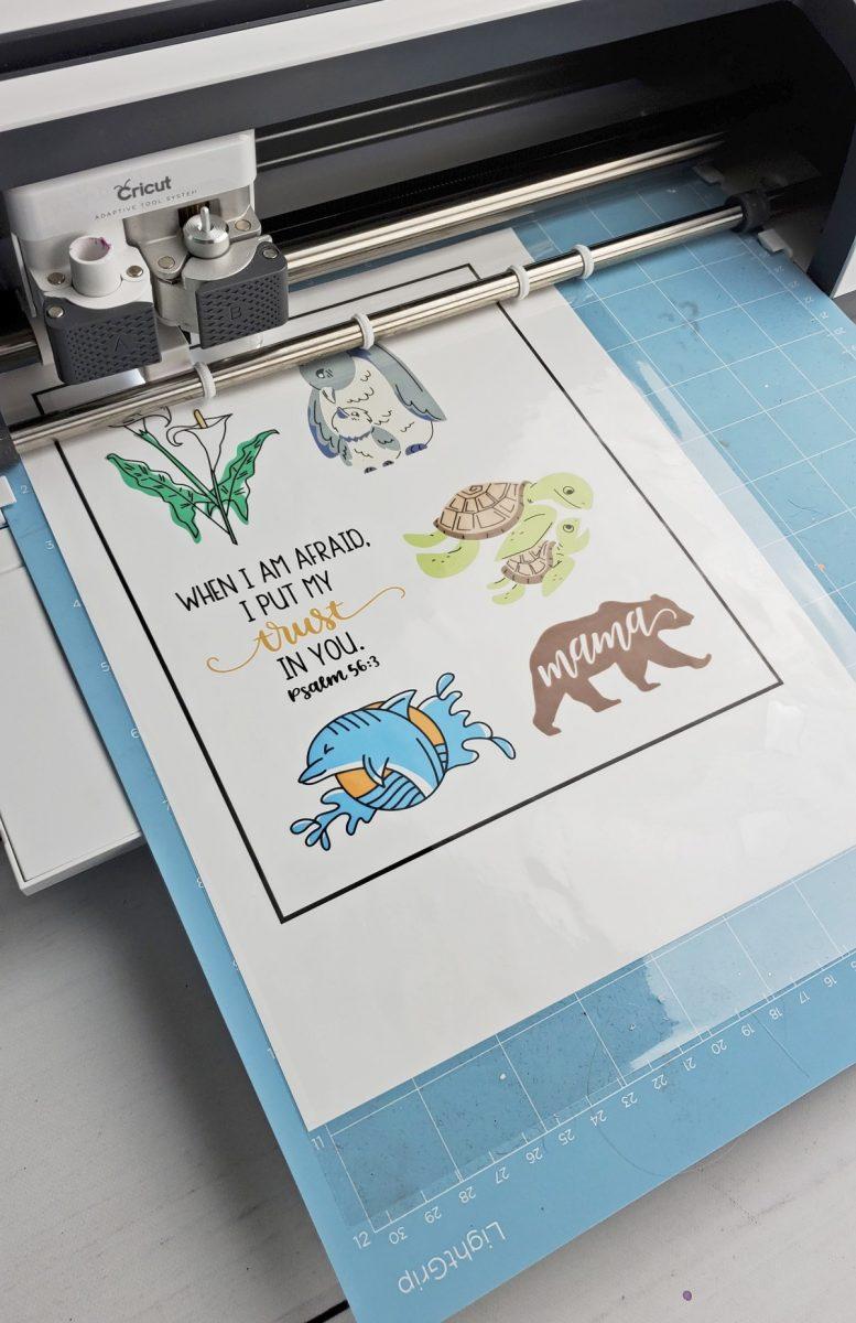cutting laminated printable vinyl cricut