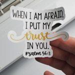 diy scripture sticker