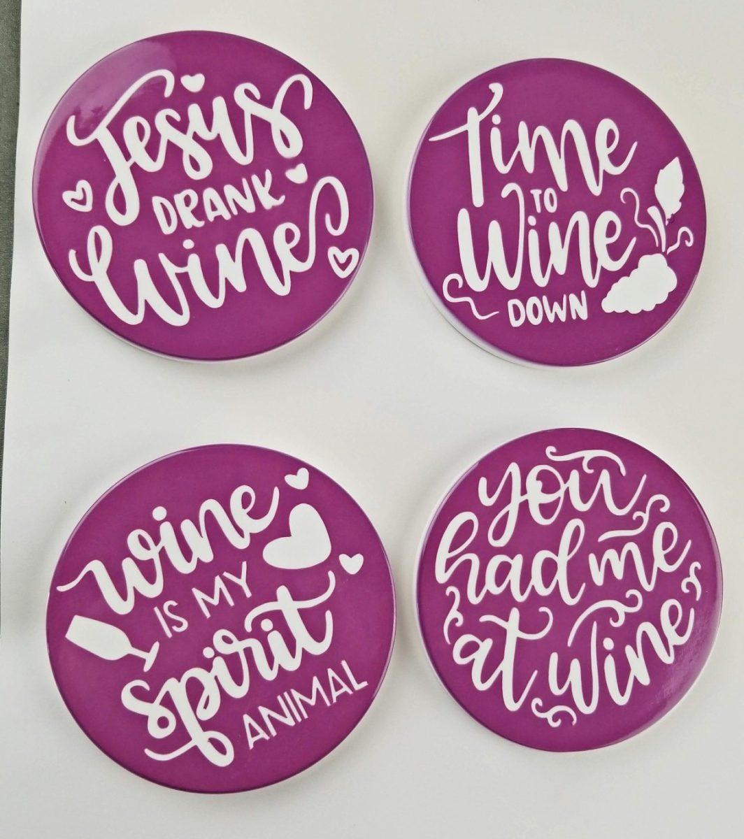 diy wine coasters