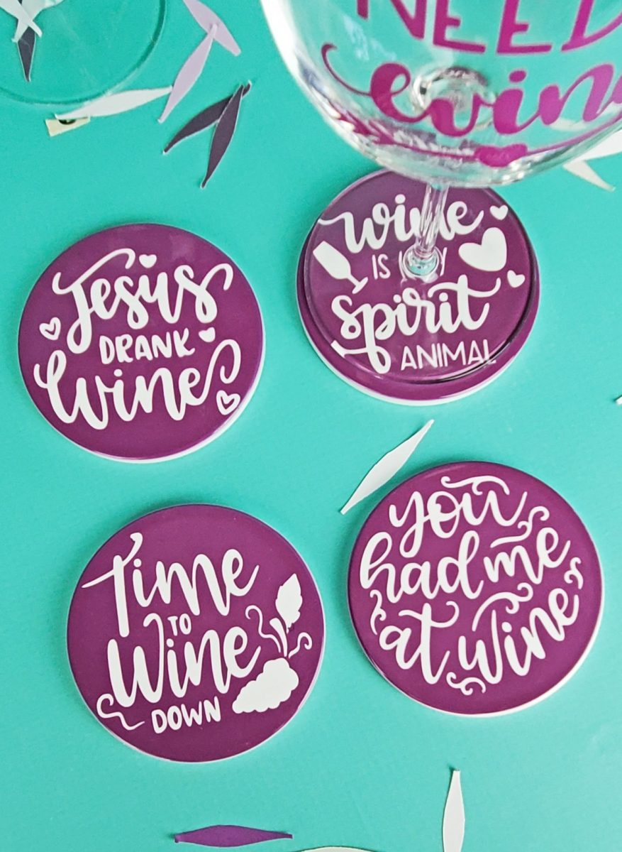 diy wine coasters with cricut