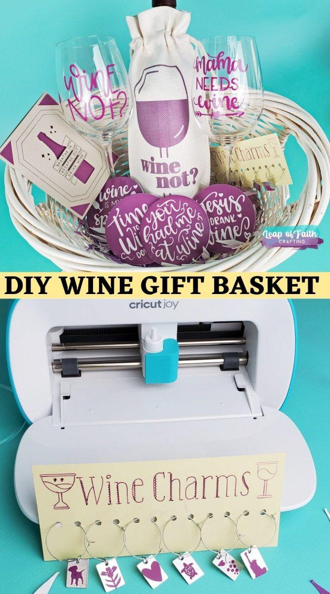 diy wine gift basket cricut joy pin