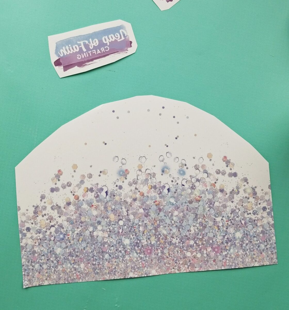 sublimation printed glitter