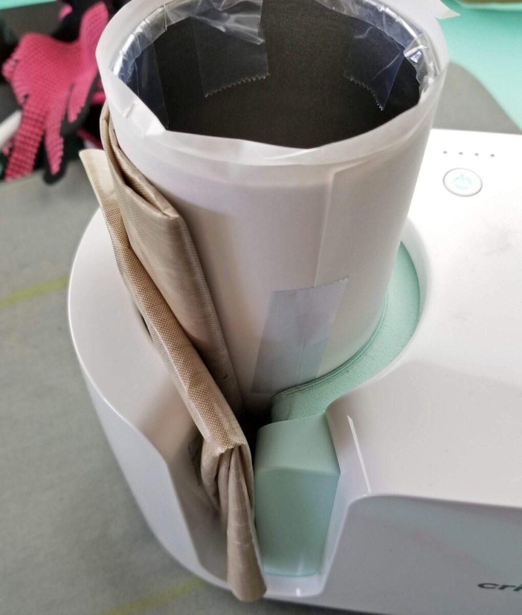 sublimation tumbler in mug press