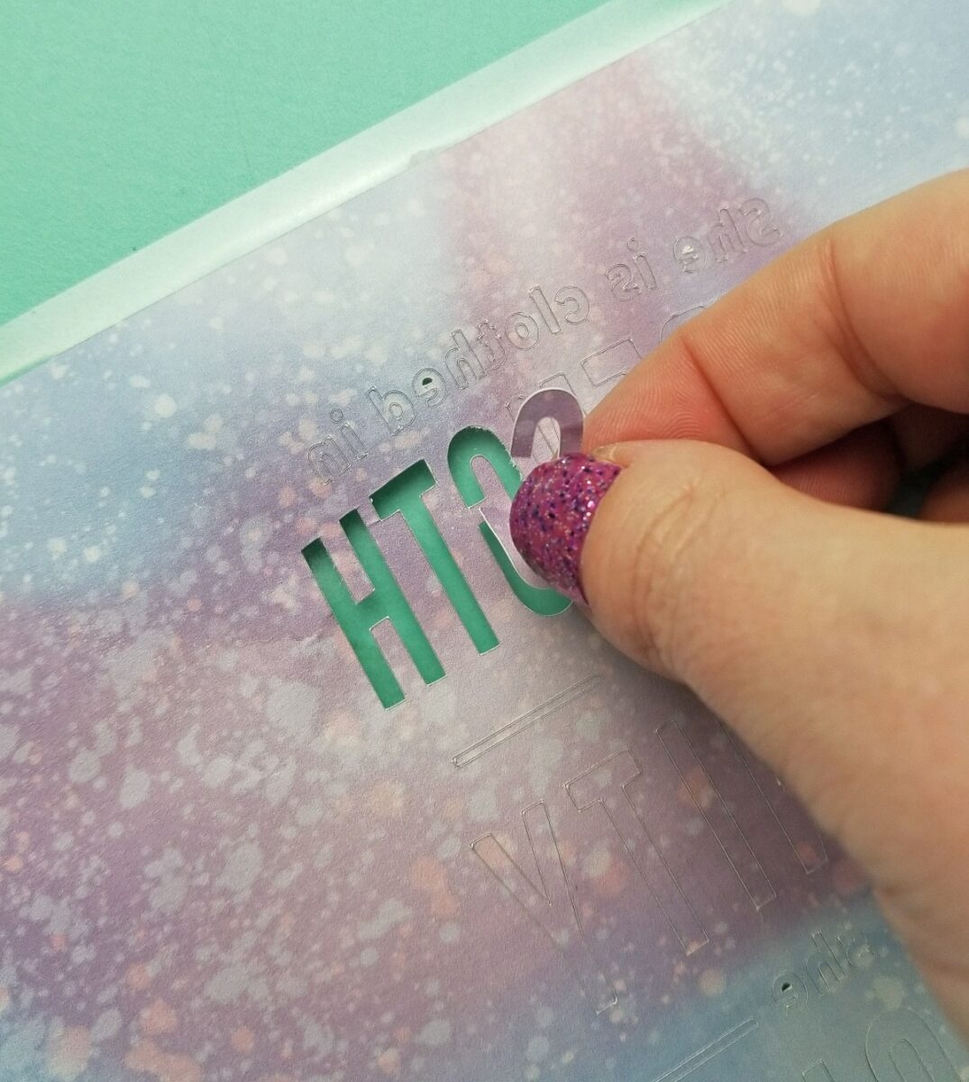 weeding infusible ink sheet