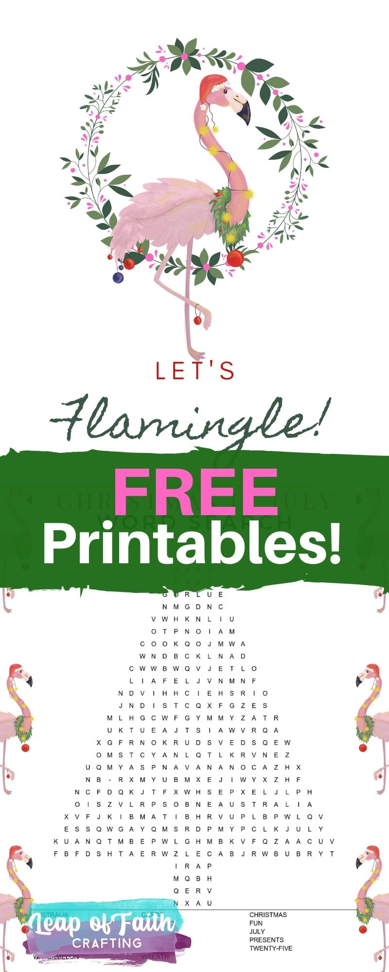 christmas in july printables free