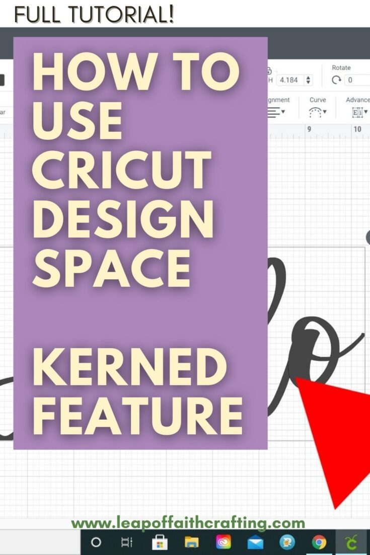 cricut design space kerned feature