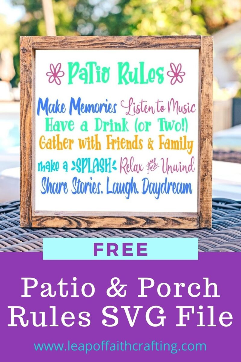 patio rules svg